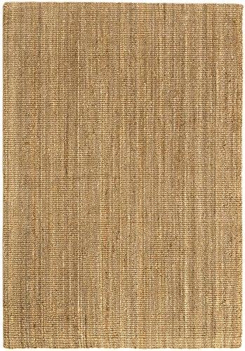 HAMID Jute Teppich - Kerala Teppich 100% Naturfaser de Jute (160x230cm)