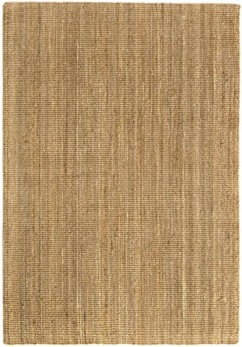 HAMID Alfombra Yute Kerala - Alfombra 100% Fibra de Yute (Natural, 160x230cm)