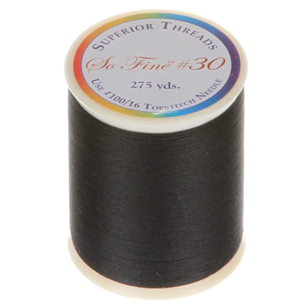 Superior Threads 12501-1150 Sew Fine Lights Out 3-Ply 30W Polyester Thread, 275 yd