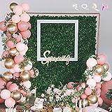 MMTX Globos Guirnalda Rosa Rubor, Decoración de Globos de Color Rosa Pastel para niñas, cumpleaños, Boda, Globo, Baby Shower, Despedida de Soltera, jardín, té, Fiesta, cóctel Decoración de Fiesta