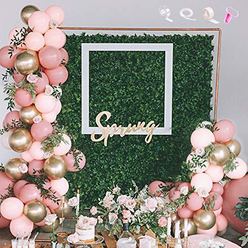 MMTX Palloncini Ghirlanda Rosa Cipria, Palloncini Rosa Pastello Decorazioni per Feste per Ragazze Compleanno Palloncino Matrimonio Baby Shower Addio al Nubilato Giardino Tea Cocktail Party Decor