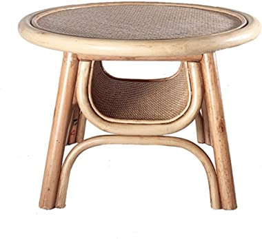 Coffee Table Small Coffee Table Low Table Japanese Table Table for Living Room Small Coffee Table with Storage Rattan Woven S