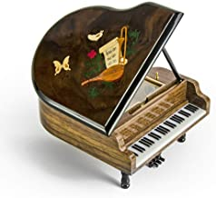 Gorgeous 36 Note Miniature Musical Grand Piano with Musical Theme Inlay - Everything I Do