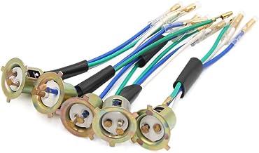sourcing map 2Pcs 3 Cables Portal/ámparas Met/álico Conector de Faro Delantero de Moto