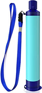 Membrane Solutions Straw Water Filter,Survival Filtration Portable Gear,Emergency Preparedness,Supply for Drinking Hiking ...