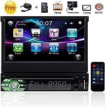 EINCAR Single 1 Din Car Stereo Bluetooth 7 inch Capacitive Touchscreen 1din Car Radio Autoradio GPS Navigation DVD CD Player FM AM Receiver Detachable Front Panel Wireless Remote Mirrorlink Backup Cam