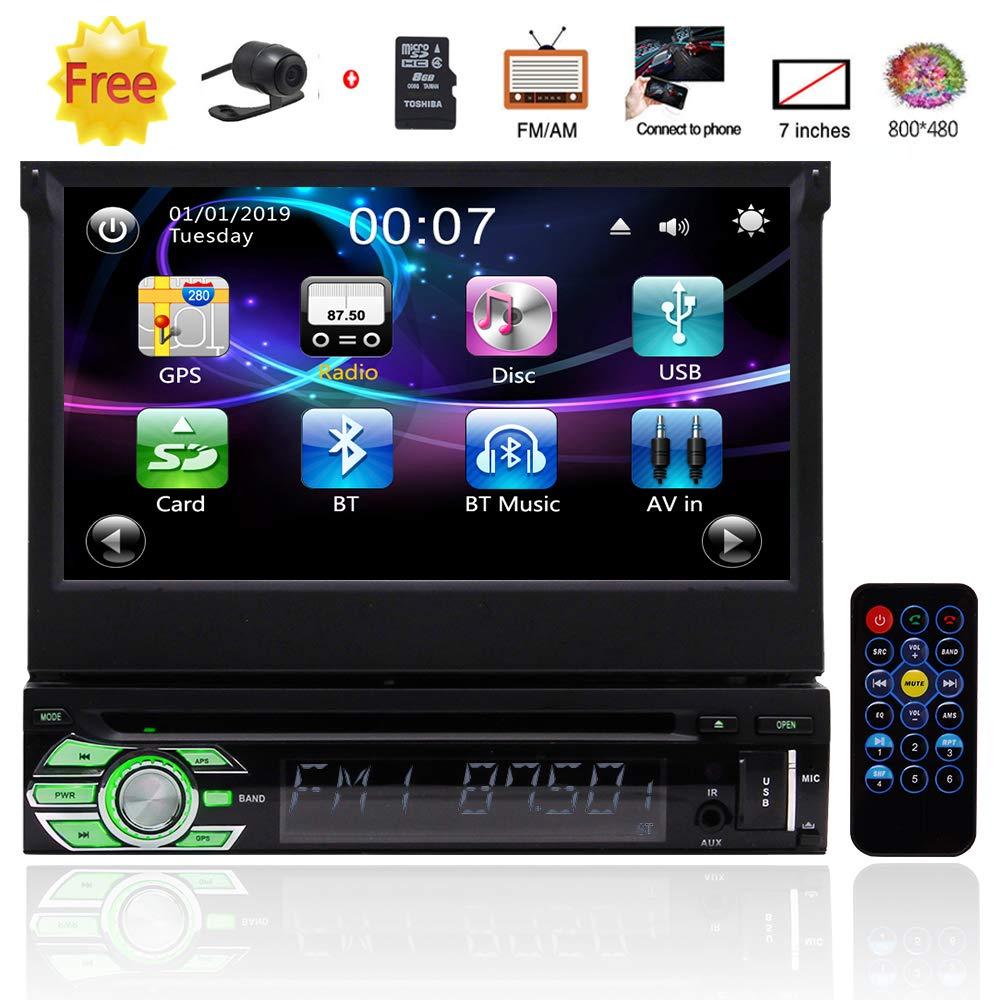 Universal Motorized Touchscreen Autoradio Detachable