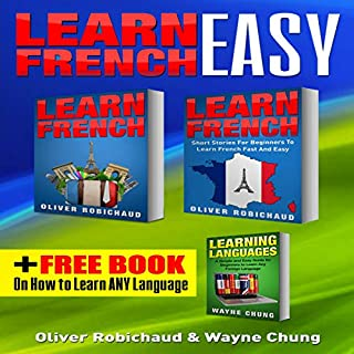 Learn French: 3-Books-in-1 cover art