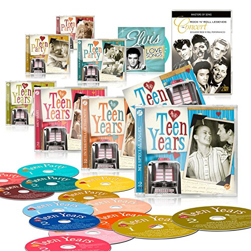 La Teen años 14 CD Deluxe Edition Set + Bonus CD: Elvis Love canciones + libre doble DVD: Rock 'n' Roll leyendas en concierto + folleto