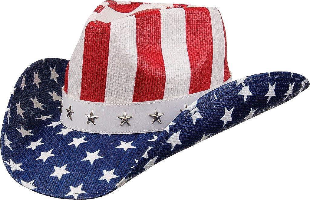 Las Vegas Special price Mall Kenny K Western Cowboy Hat USA Stars Patriotic Flag 4t Stripes