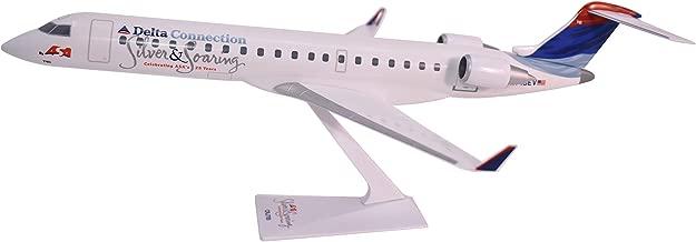 Flight Miniatures Delta Connection ASA Silver & Soaring Bombardier CRJ700 1:100 Scale Display Model