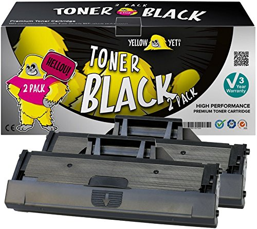 Yellow Yeti 593-11108 (1,500 Pages) 2 Compatible Toner Cartridges for use with Dell B1160 B1160w B1163w B1165nfw [3 Years Warranty]
