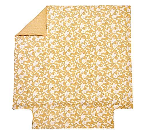 Blanc des Vosges Camouflage Ocre Housse de Couette 260 x 240 cm - Percale 100% Coton 80 Fils/cm²