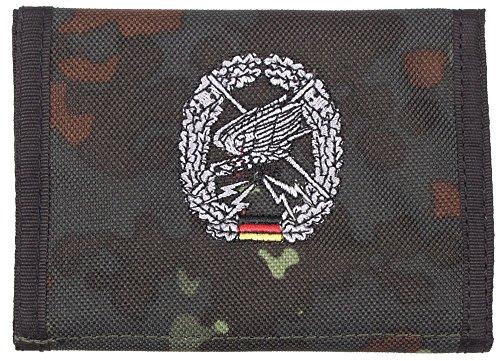 Nylongeldbörse, flecktarn, Fernspäher, Klettv., Ausweisf.