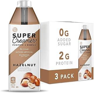 Kitu Super Coffee Creamer, SugarFree Coffee Creamer (0g Sugar, 2g Protein, 40 Calories) [Hazelnut] 25.4 Fl Oz, 3 Pack | Ke...
