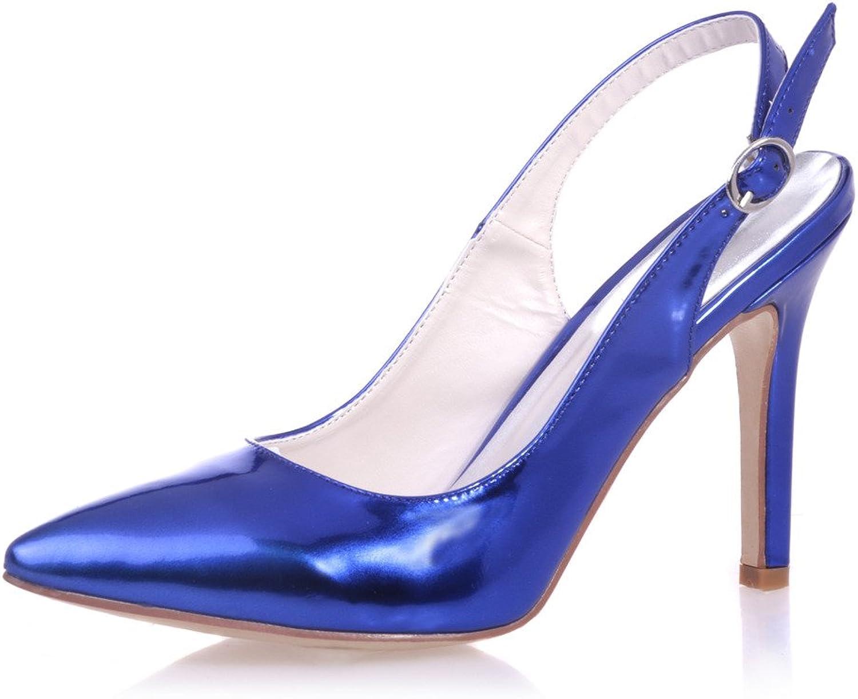 Monie Women's Stiletto Pointed Toe Bridal Bridesmaid Dress Strappy shoes for Wedding