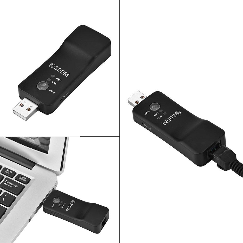 Bewinner Repetidor WiFi USB, Amplificador de señal con Cable e inalámbrico Ap WiFi Smart TV Adaptador de Red Amplificador de señal Ap Multifuncional, Extensor de Punto de Acceso WiFi de Alta Potencia: