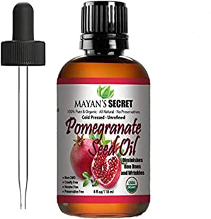 Sponsored Ad - USDA Certified Organic Pomegranate Seed Oil for Skin Repair -Large 4oz Glass Bottle Cold Pressed and Pure R...