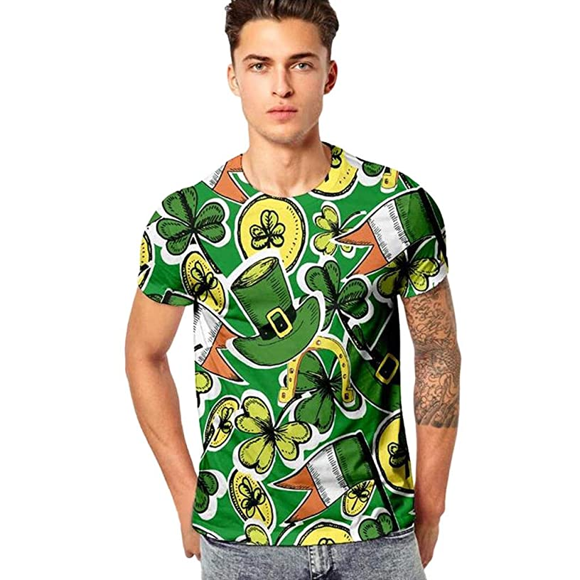 St. Patrick's Day!!! WILLTOO???? Mens 3D Print Casual Sport Shirt Tops Mens Gifts Under 10 Dollars