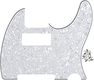 IKN 4Ply White Pearl Tele Guitar Mini Humbucker Pick Guard Plate w/Screws Fit USA/Mexican Made Fender Telecaster Part