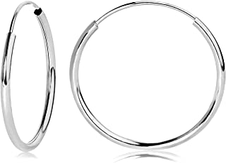 Olivia's Collection 14kt Gold Hallow Endless Hoop Earrings 10 to 20mm