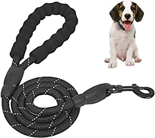 Proboths 5 FT Strong Dog Leash with Comfortable Padded Handle and Highly Reflective Threads for Medium and Large Dogs