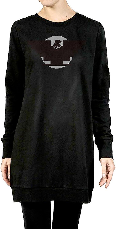 Aztlan Huelga Bird Women's Long Hoodies Black