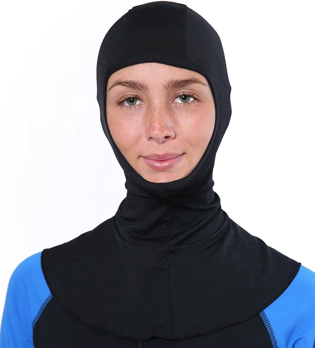 EcoStinger Women Sun Protective UV Hood Balaclava Chlorine Resistant UPF50+ Black