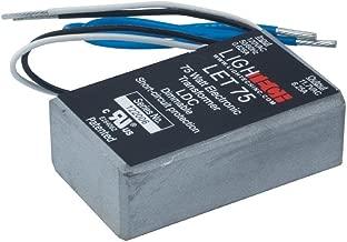 Jesco Lighting LET-75-24 Accessory - 12V Electronic Transformer, Silver Finish