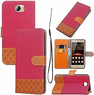 Huawei Y5 II シェル フリップ カバー スマートフォンケース, MeetJP シェル の Huawei Y5 II - Hot Pink