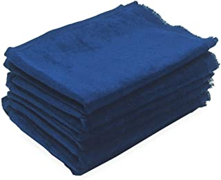 Georgiabags Terry Velour Fingertip Towel with Fringed Ends (3, Navy)