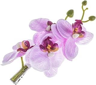 DreamLily Hawaiian Orchid Flower Hair Clips for Wedding Hair Brooch Hawaii Beach Wearing