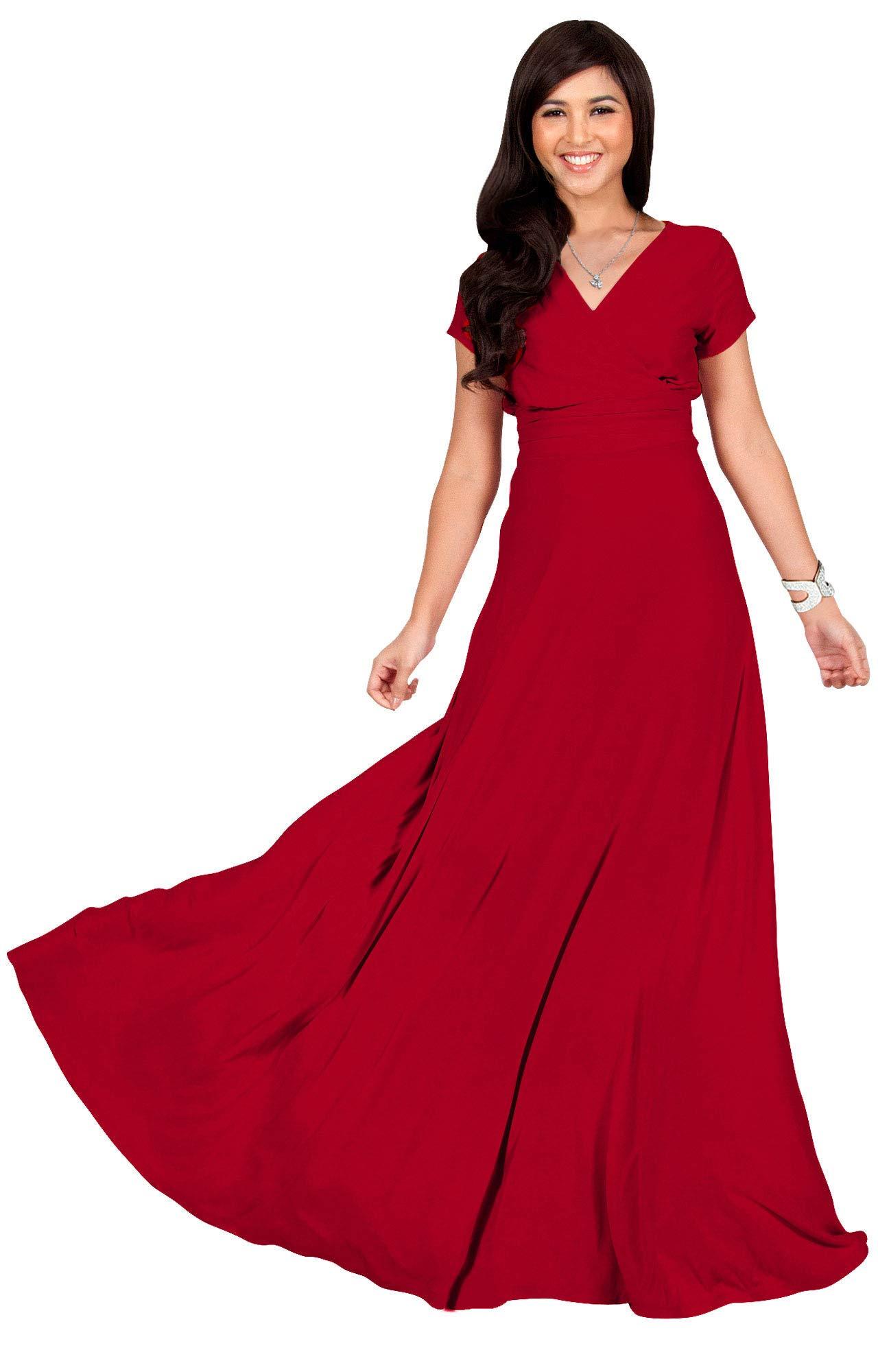 Red Dress - Women's Flapper Dresses 1920s V Neck Beaded Fringed Great Gatsby Dress