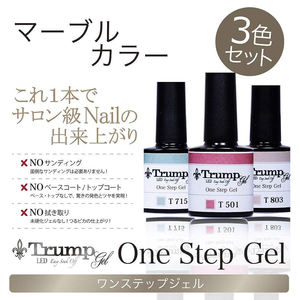 【日本製】Trump gel トランプジェル ワンステップジェル ジェルネイル カラージェル 3点 セット スモーキーモーヴ ボルドー マーブル (マーブルカラーセット)