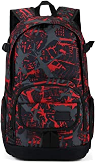 School Backpack Yolin Casual Lightweight Backpack Travel Outdoor Daypack Boy Girl Unisex - Red