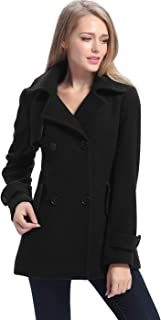 BGSD Women's Piper Wool Blend Pea Coat (Regular Plus & Short)