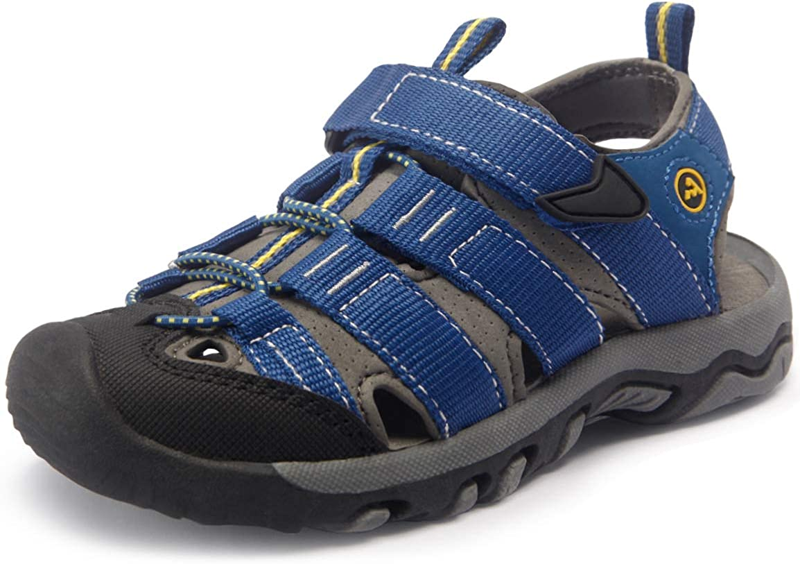 atika Kids Closed Toe Sandals, Outdoor Hiking Water Sandals, Sport Athletic Beach Summer Shoes (Toddler/Little Kid/Big Kid)