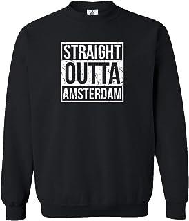 Sheki Apparel Soccer Shirt Straight Outta Amsterdam Crewneck Sweater
