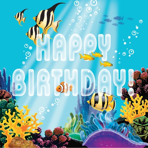Creative Conversion 16 Fils 3 Plis Zone de Construction Joyeux Anniversaire Serviettes en Papier, Noir/Jaune/Gris, Papier, Ocean Party, Lunch