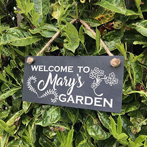 Personalised garden sign Welcome to my garden Personalised garden plaque Gift for gardeners Slate Sign