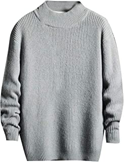 Men's Slim Fit Basic Long Sleeve Turtleneck Casual Knitted Pullover Sweater