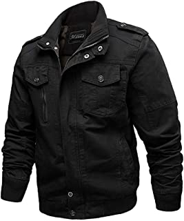Xiang Ru Stand Collar Tooling Trucker Jacket Outdoor Coats with Pockets for Men