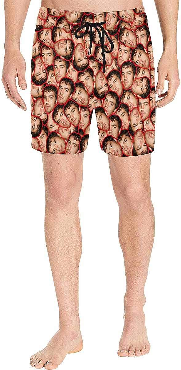 Custom Multi Face Swim Trunk Personalized Men's Mid-Length Swim Shorts Gifts