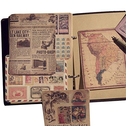 Blue Vessel Neue Retro Aufkleber Passen Die Alte Karte Briefmarken Wirkung Alten Plakat Zu