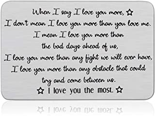 Wallet Insert Card Anniversary For Husband Boyfriend From Wife Girlfriend Valentines Day Birthday Gift Mini Love Note Wedd...