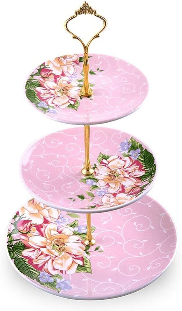 online shopping Cake Stand Party Tray Salad Bowl Max 54% OFF 3 Layer Ceramic European Fruit