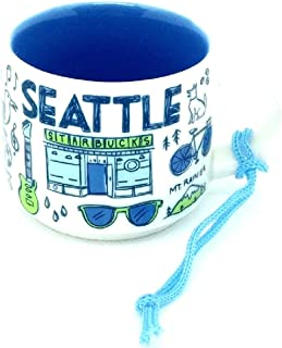 Seattle Starbucks Been There Series Ornament 2oz Cup