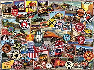 White Mountain Puzzles All Aboard-1000 Piece Puzzle - Designer: Lewis T. Johnson by White Mountain Puzzles, Inc.