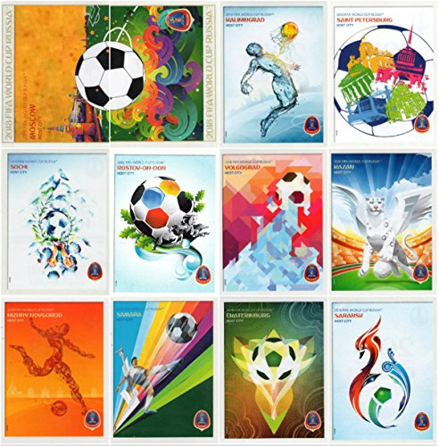 PANINI WORLD CUP 2018 STICKERS - ALL TWELVE (12) TOURNAMENT POSTER STICKERS - #20 - #31