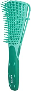 Heeta Detangling Brush, Detangler Brush for Dry and Wet Hair, detangling comb for Afro American Hair 3A to 4C Wavy Kinky Curly Coily Hair for Women and Men (Green)